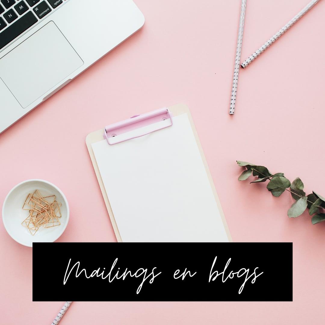 Mailings en blogs voor ondernemers
