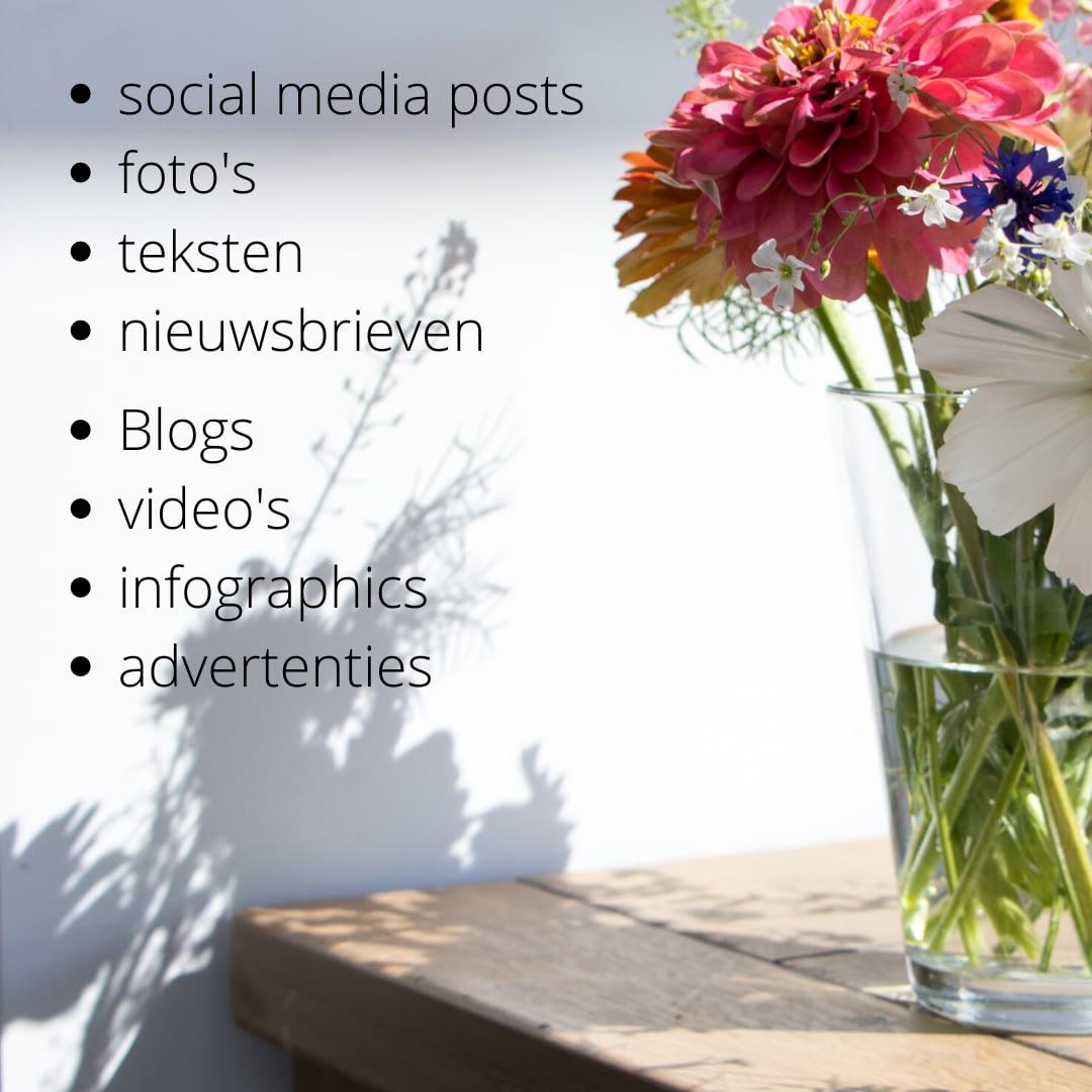 Soorten content - content marketing