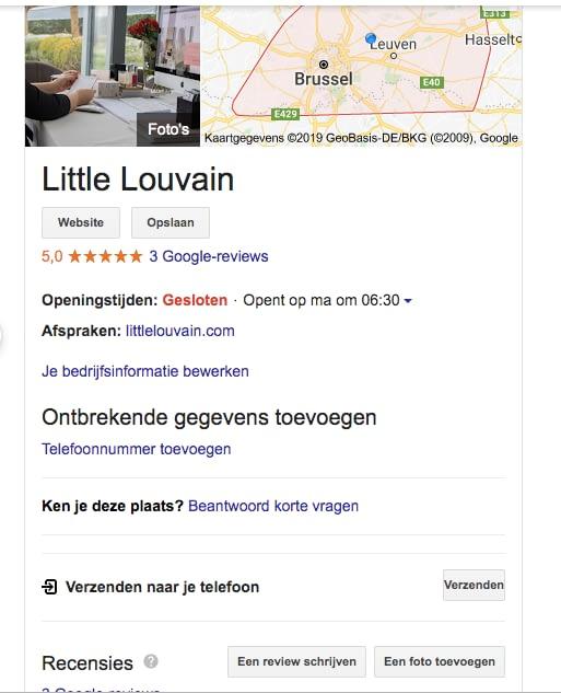 Google my Business reviews aanmoedigen