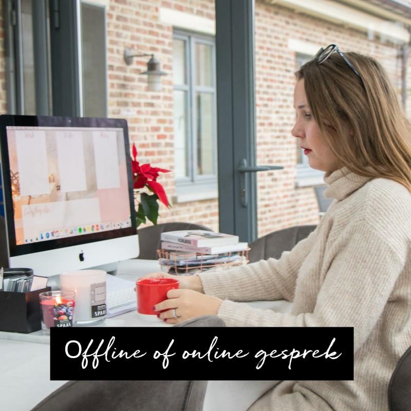 offline of online gesprek