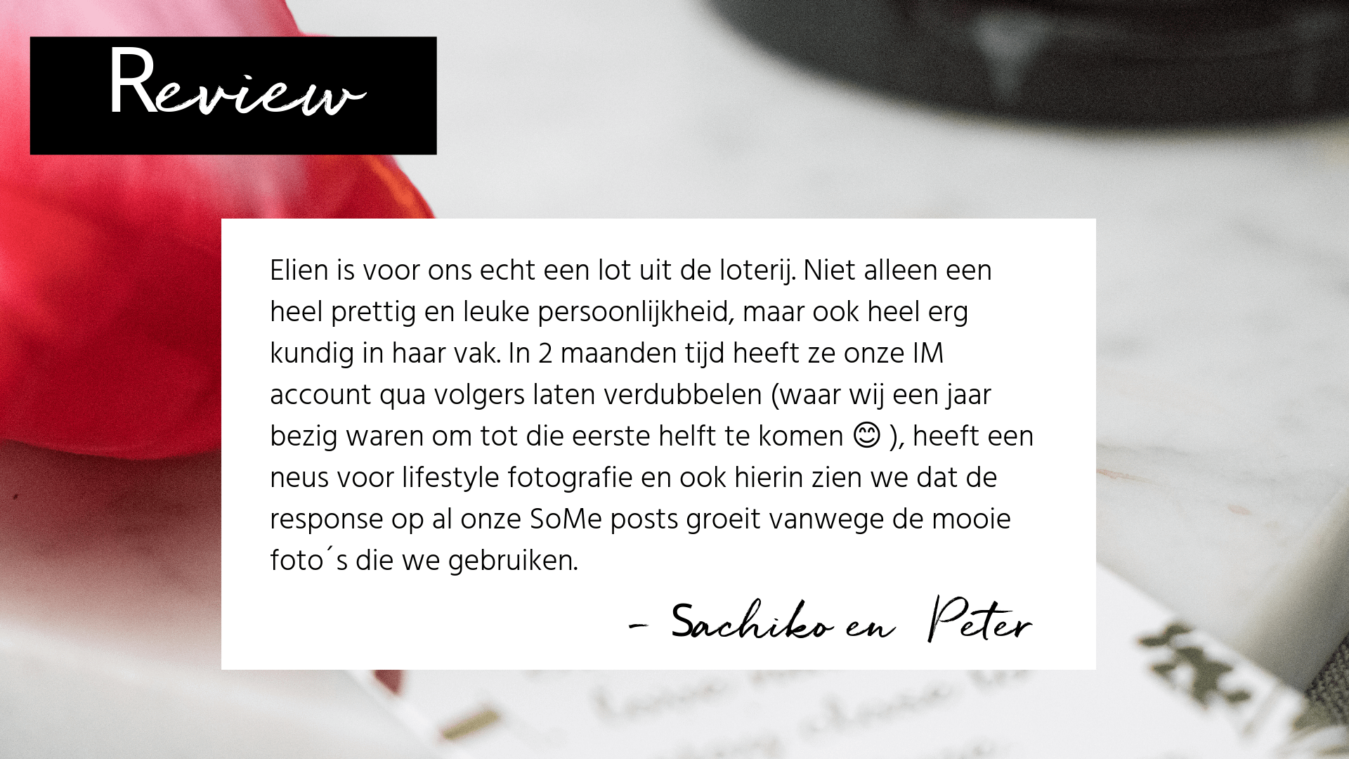 Review tevreden klant online marketing
